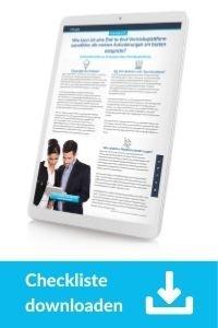 Checkliste Downloaden: Schlüsselkriterien zur Auswahl einer Vertriebsplattform