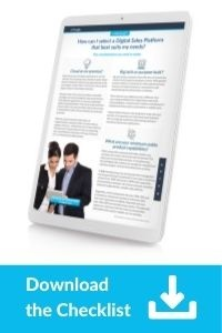 Download the Checklist: How can I select a Digital Sales Platform that best suits my needs