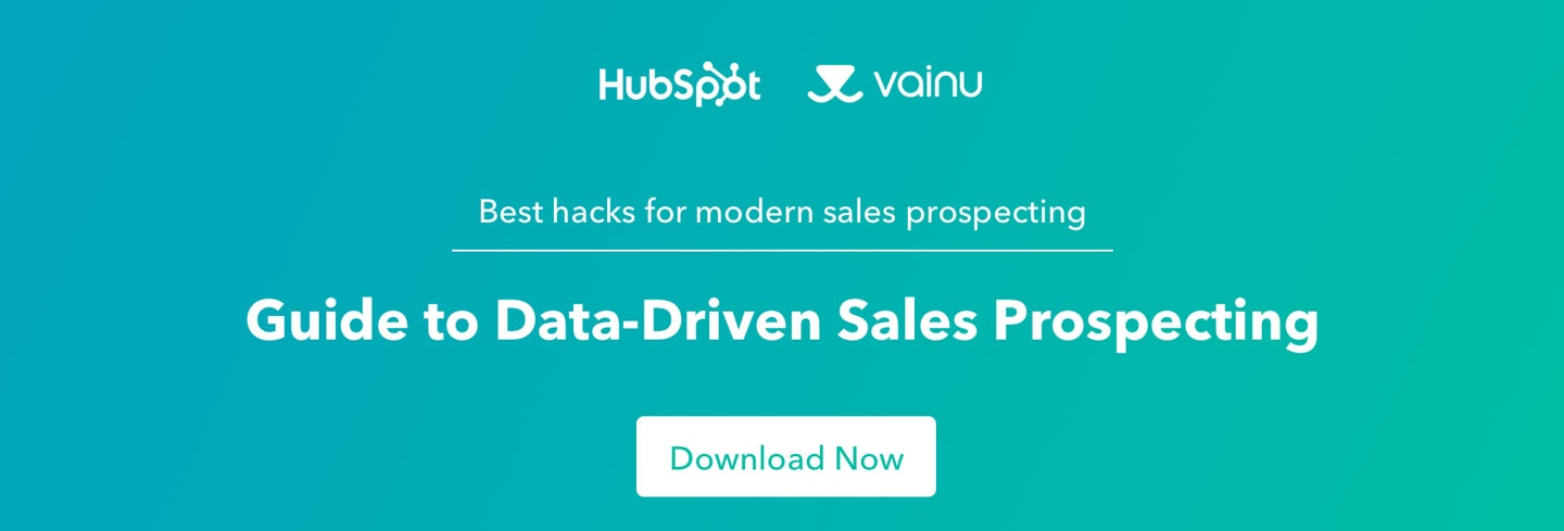 Guide to Data-Driven Sales Prospecting