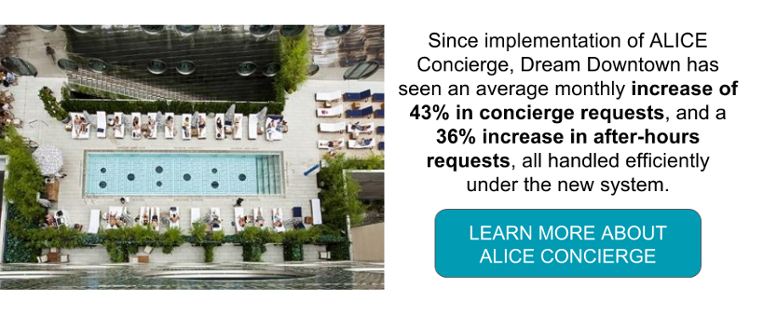 ALICE has increased concierge requests at the Dream Downtown