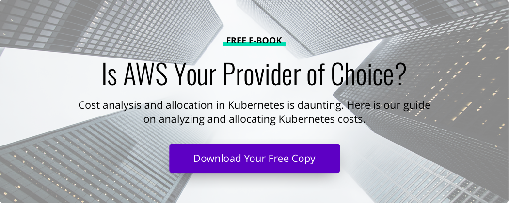 Book cover of 'Kubernetes Cost Analysis and Allocation on AWS' and button to download