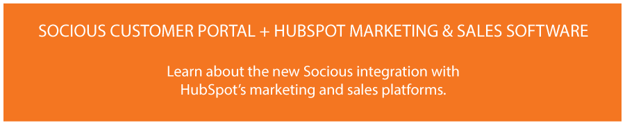 Socious Customer Portal + HubSpot Marketing & Sales Software  Learn about how the new Socious integration with the HubSpot marketing and  sales platforms.