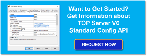 Get More Info About TOP Server Standard Config API