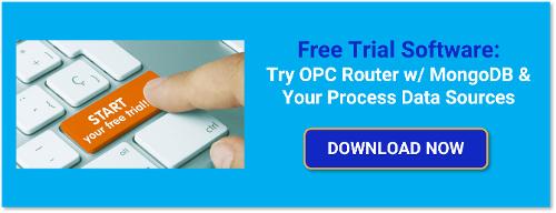 Integrate OPC data and more with MongoDB with the free OPC Router trial