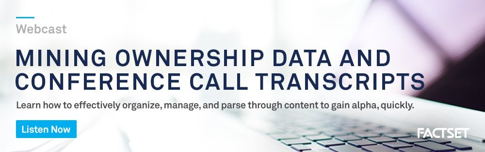 mining ownership data and conference call transcripts