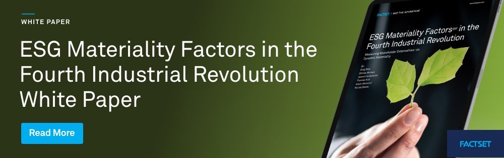 ESG Material Factors in the Fourth Industrial Revolution