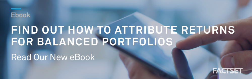 Attribute returns for balanced portfolios