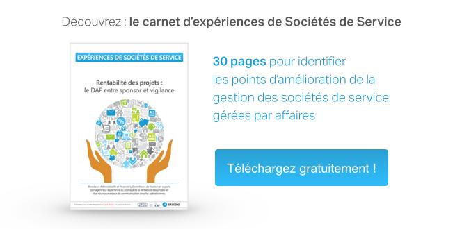 Découvrez : le carnet d'expériences de Sociétés de Service