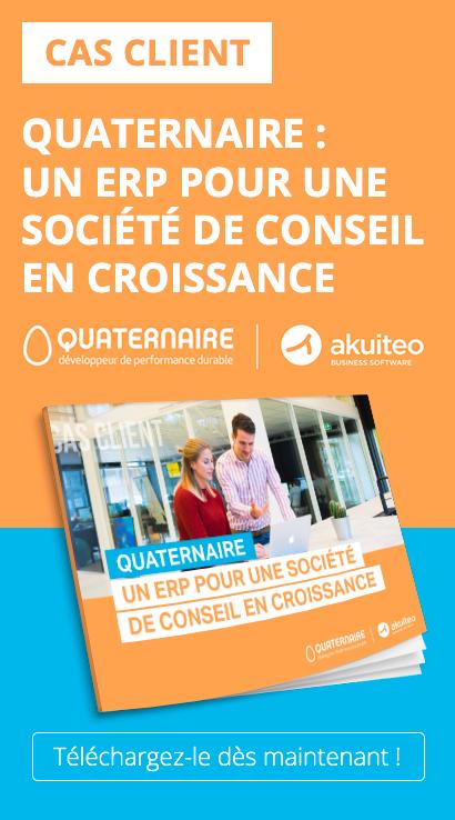 Découvrez comment QUATERNAIRE, société de conseil a fait le choix de l'ERP Akuiteo.