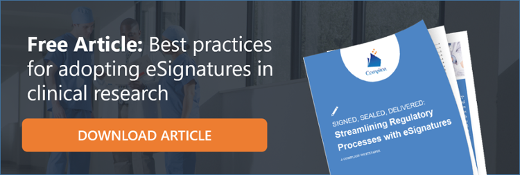 Free Article: Best Practices for adopting eSignatures in clinical research