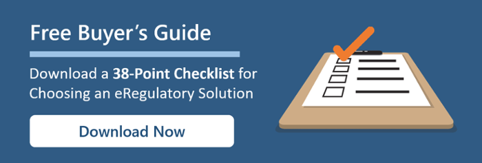 Free 38-Point Checklist for Choosing an eRegulatory System