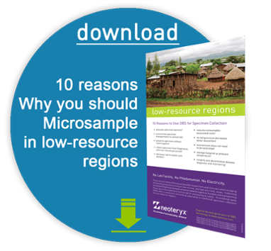 download a pdf of why you shoudl use dried blood collection for low resource regions