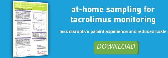 Download at-home sampling for tacrolimus monitoring study