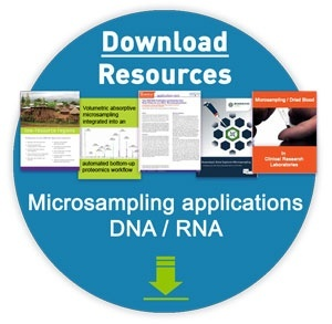 resource bundle graphic - click to download third party DNA RNA case studies that demonstrate successful yield of NGS grade DNA RNA from dried blood micro samples
