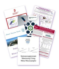 image collage of various case studies involving therapeutic drug monitoring accomplished with micro blood specimen collection