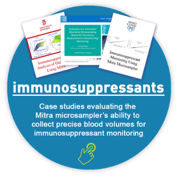immunosupressants case studies and immunosuppressant monitoring call to action to collect precise blood volumes