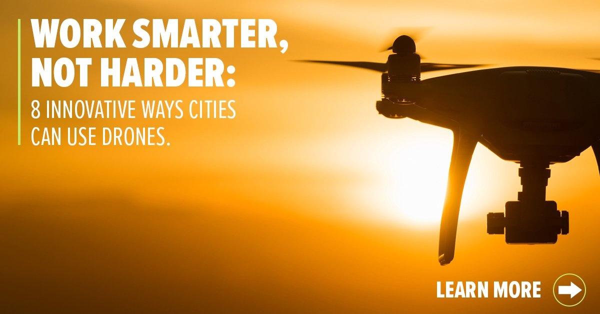 8 Innovative ways cities can use drones