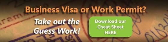 business visa vs. work permit