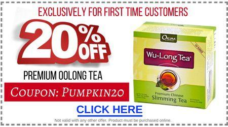 20% Off Premium Oolong Tea for Pumpkin Spice Oolong Latte Recipe