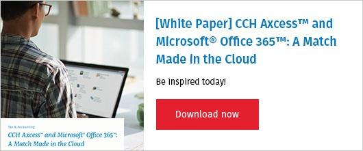 White Paper CCH Axcess Microsoft Office 365 Cloud