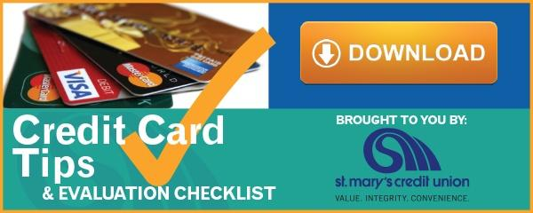 Credit Card Checklist