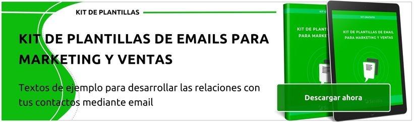 Kit de plantillas de email para marketing y ventas