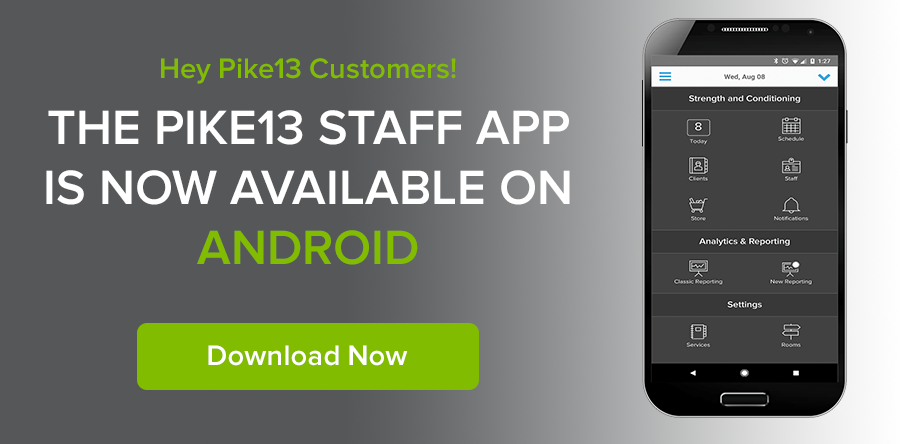 Download the Pike13 Staff App