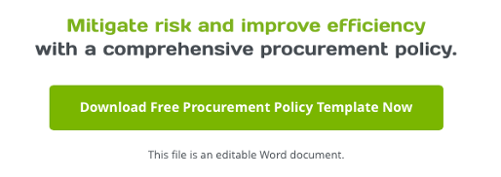 procurement policy template free download