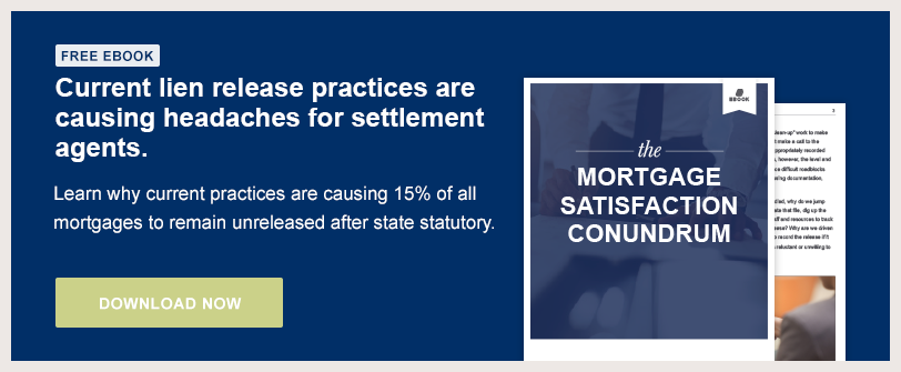 Current lien release practices are causing headaches for settlement agents. Learn why.