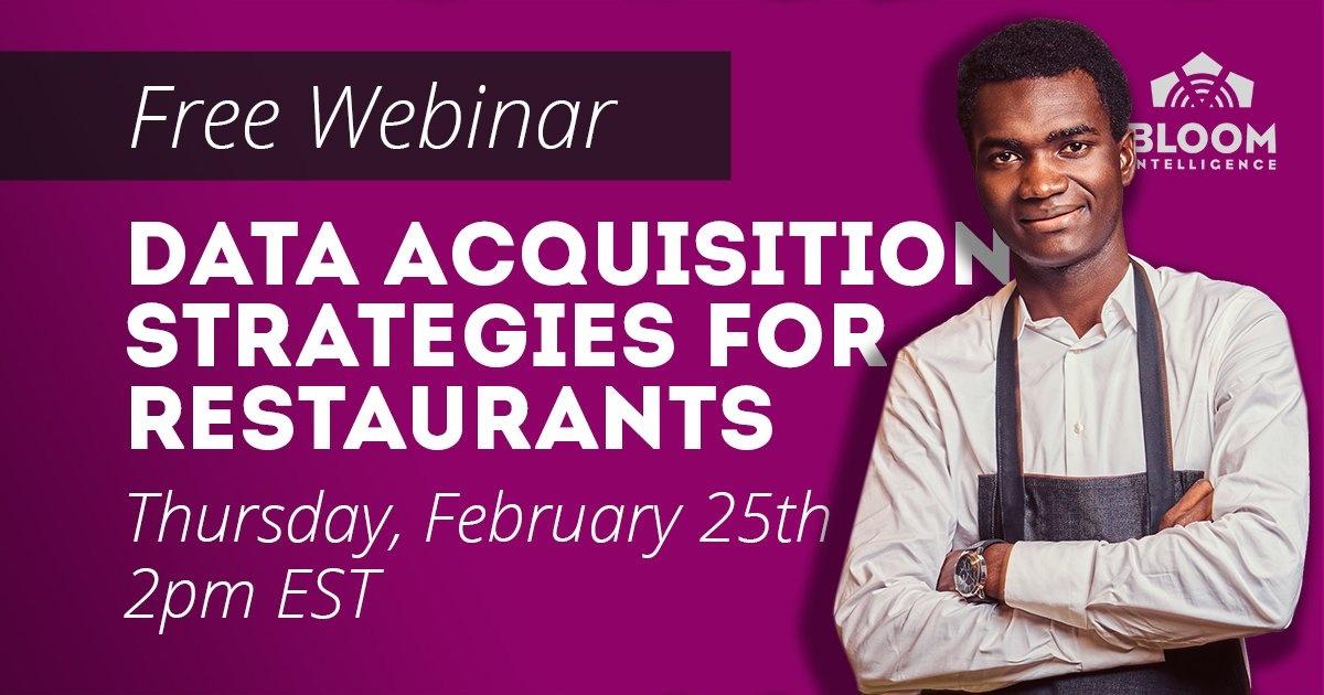 data acquisition strategies for restaurants