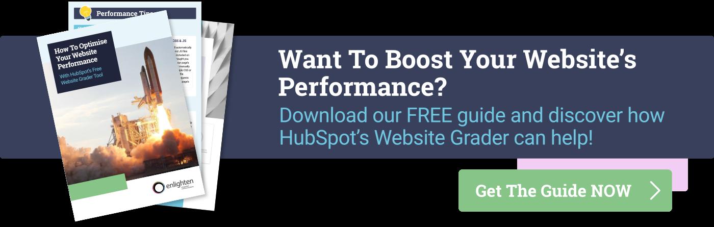 Boost your website performance with HubSpot Website Grader