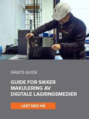 Last ned gratis guide for sikker makulering av digitale lagringsmedier
