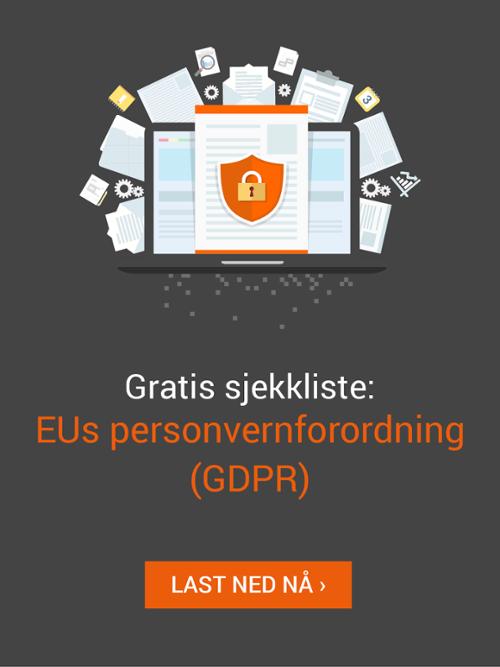 Last ned gratis sjekkliste: EUs nye personvernforordning (GDPR)