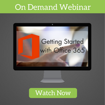 Getting started with Office 365 Webinar