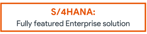 S/4HANA: Fully featured Enterprise solution