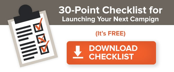30 point checklist for launching your next campaign free download