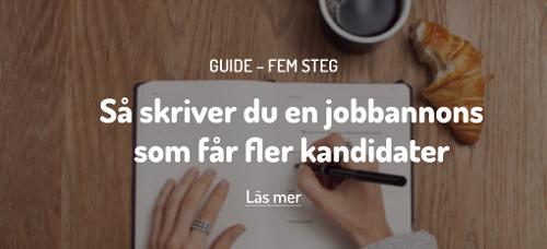 5 steg för en bättre jobbannons