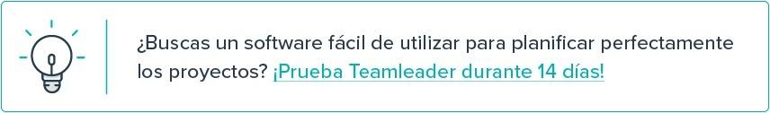 Quieres controlar mejor tus proyectos y tener mejores estimaciones? Prueba Teamleader durante 14 días.