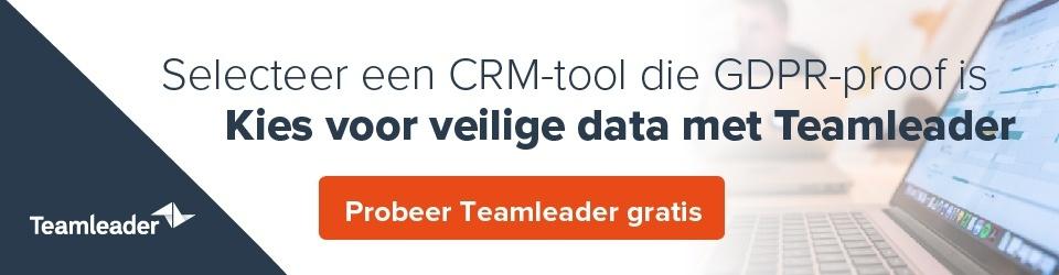 Selecteer een CRM-tool die GDPR-proof is - kies voor veilige data met Teamleader