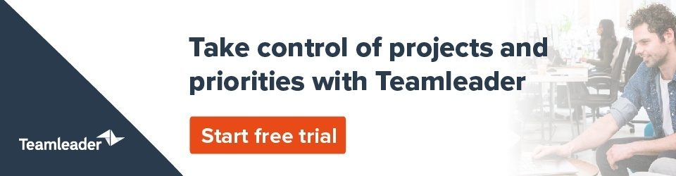 Regain control of your projects with Teamleader - start free trial
