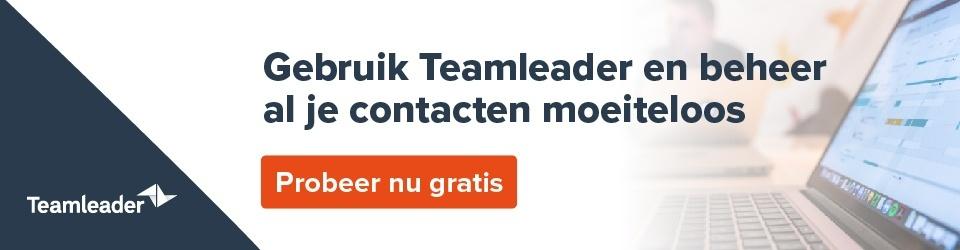 Teamleader probeer gratis