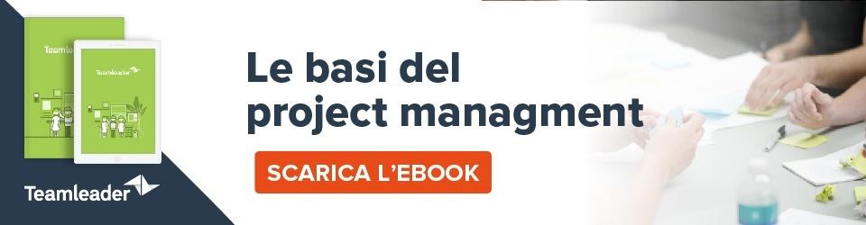 Vuo trasformare ogni progetto in un successo? Ebook: le basi del project management. Scarica l'ebook.