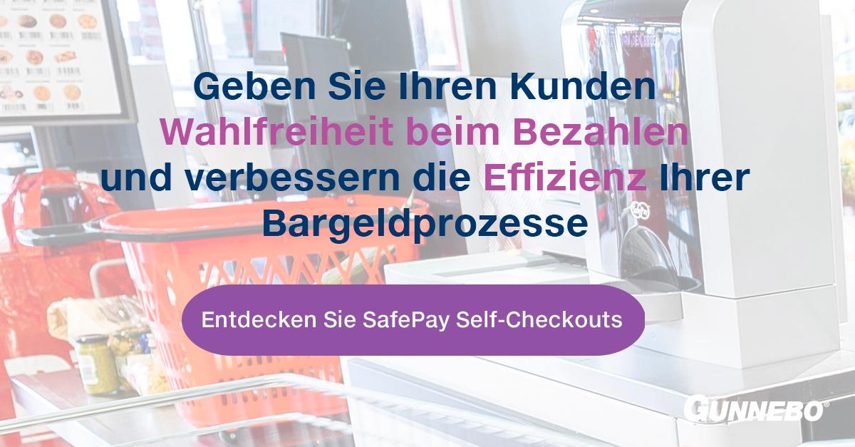 Self-Checkout-Kassen im Supermarkt