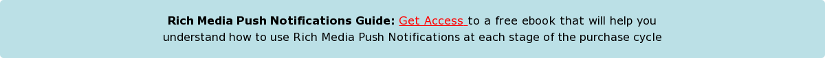 Rich Media Push Notifications Guide: Get Access to a free ebook that will help  youunderstand how to use Rich Media Push Notifications at each stage of the  purchase cycle