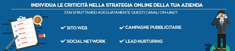 Compila questa checklist per individuare le criticità della tua strategia  on-line.