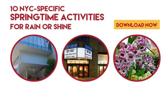 10 NYC springtime acticities for rain or shine -- download the free ebook now!