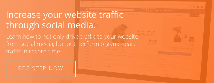 Register today to learn how to increase your website traffic through social media.