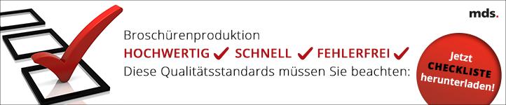 Broschürenproduktion Qualitätsstandards