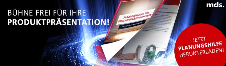 Jetzt Planungshilfe für Produktpräsentationen herunterladen!