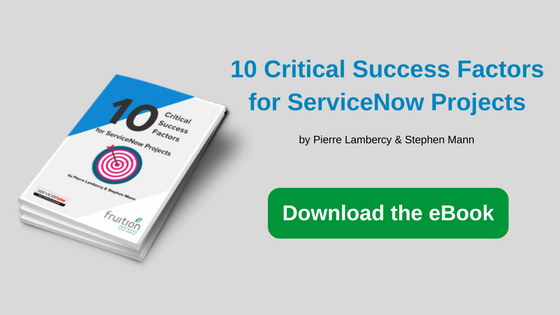 eBook: 10 Criticial Success Factors for ServiceNow projects